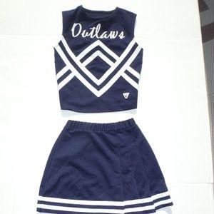 Navy/white  Cheerleader Costume Size 2-4